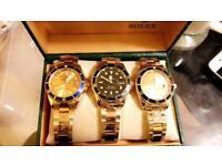 Rolex wristwatch watch gift present free loc del bargain gold silver twotone women's men's