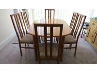 Dinning table + six chairs