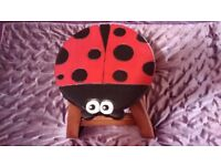 Cute and barely used lady bird stool. Quality built.