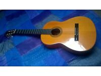 Guitar classical with case cover