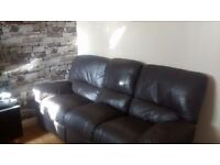 Can deliver Harvey's 3 seater chocolate brown recliner very good condition