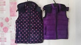 Kids waterproof jackets and body warmers ages 7-8, 9-10 and 11-12. Various prices please check ad