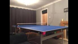 Olympic size table tennis table