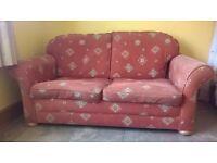 2 seater sofa, armchair and beanbag