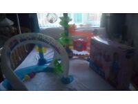 Toy bundle. vtech walker, fisher price bright beats smart touch play space set & ballapalooza