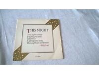 "Billy Joel This Night 7"" Single -can post for extra-"