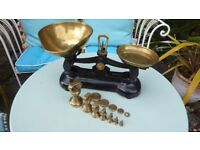 old libra kitchen scales with weights