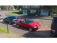 mgf converable long mot new btakes allround will swap for van or car will sale at £650