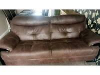 3 seater sofa and large footstool