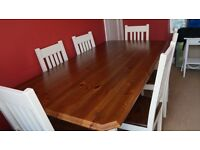 Country kitchen table and 6 chairs