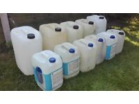 Plastic Storage Containers 10/25L Diesel Petrol