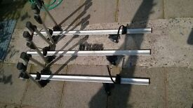 3 x Exodous Roof Cycle carriers