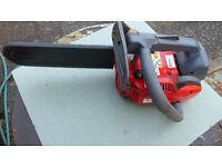 efco chainsaw, tree surgen/pruning, 12' bar