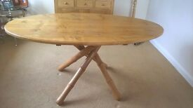 Craftsman Made Solid English Oak Dining Room Table