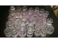 34 jars centrepieces wedding