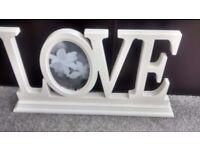Love cream picture frame