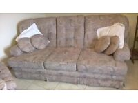Fantastic 3 piece suite with footstool