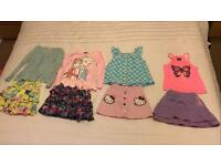 Girls summer clothes, skirts & tops ages 5-6 years and 6-7 years