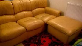 Sofa bed with two armchair