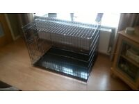 dog cage, large suitable for dog upto lab size. brand new never used, cost £55, sell for £25