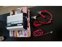 300 Watts - 600 Watts Peak -POWER INVERTER, NEW IN a box, Opened for testing, All accessories