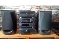 Technics stereo separates and speakers. Great condition. Radio, cd player, cassette player and amp.