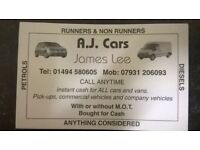 A.J cars and vans plant wanted top price paid