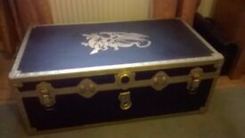 refurbished steamer trunk