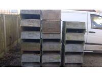 Heavy Duty Galvanised Steel Stacking Metal Planter Storage Feeder Bin