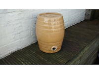 Stone barrel.