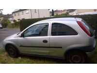 vauxhall corsa 1.2 for spares or repair £100 for quick sale.