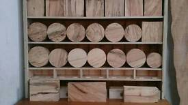 Turning blanks and crafts hardwood timbers