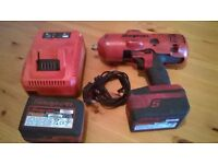 snap-on cordless half inch impact wrench ( with warranty )