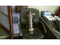 empire fire extinguisher from 1980s stainless steel in very good original condition