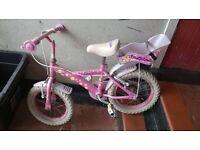 girls pink bike £20 vgc,