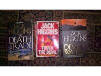 Jack Higgins Books x 3