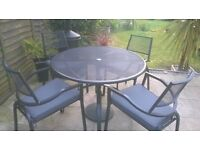 Miami five piece outdoor dining set