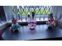 Three ornamental glassware pieces