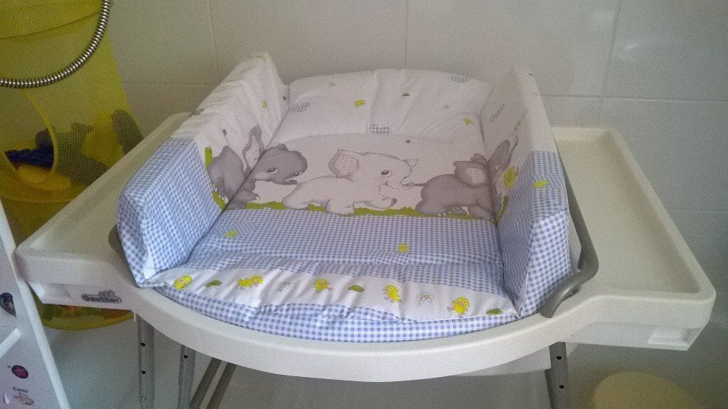 Baby changing unit with bath tube - Geuther Aqualino - perfect condition!