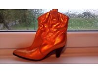 Brand new cool Funky lady real leather cowboy boots shiny various colors size 5 Brasil £15 a pair