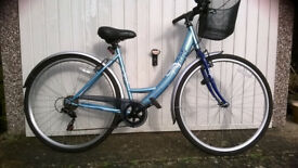 "Ladies' ""Apollo Metis"" Bicycle, blue, 19"" frame, 6-speed gears. Excellent condition."
