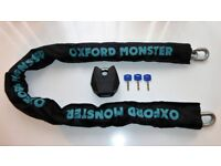 Oxford Monster XL 14.5mm Sold Secure GOLD Motorcycle Chain & Padlock 1.5m OF20