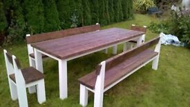 HAND MADE TIMBER DRESSERS,BEDS,TV UNIT,DINING/COFFEE TABLES,GARDEN&PATIO BENCHES FROM £49 SEE AD