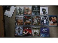 PS3 - 12 games 2 controllers, all cables. Backwards compatible. Blu ray