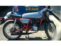 SWAP MY 17 plate skyteam ace 50cc cafe racer swap for bigger cc 80 100 125 gear bike