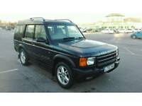 2002 LAND ROVER DISCOVERY II 4.0 V8i ES AUTO BLACK 7 SEATER LOW MILES FULL MOT LOVELY 4x4