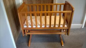 Obaby gliding crib & mattress