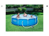Best way 10ft pool with pump, new