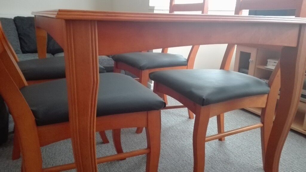 Solid Wood Dining Table And 4 Chairs Excellent Condition Thurnscoe South Yorkshire