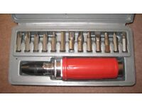Impact driver set, only used once, as new.